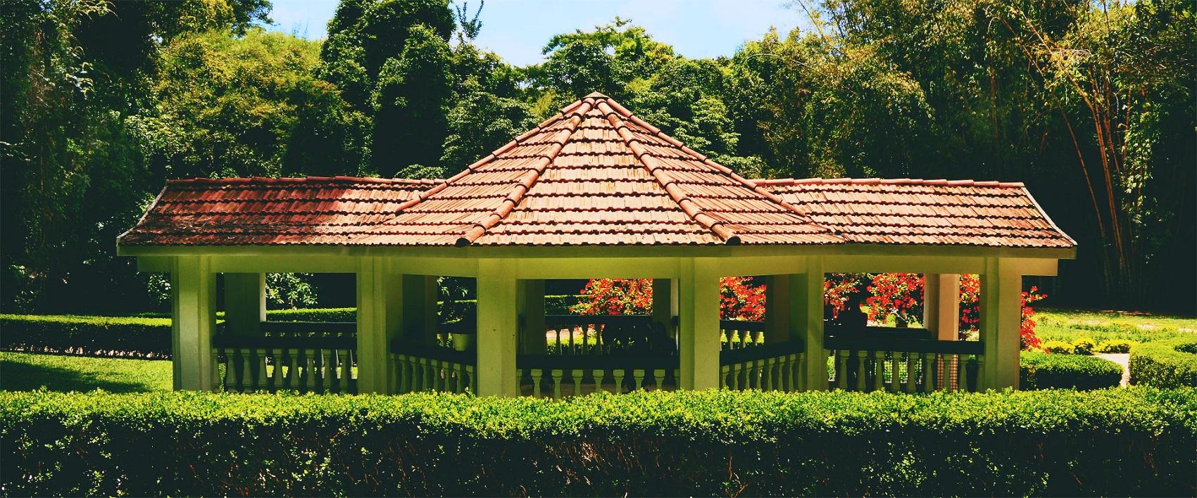 Uma das fontes do Parque das Águas, em São Lourenço (Foto: Divulgação / Nestlé)