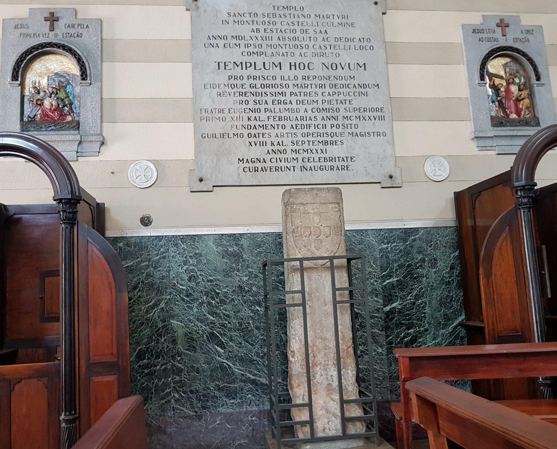 Marco de fundação da cidade na igreja do padroeiro do Rio de Janeiro (Tânia Rêgo/Agência Brasil)