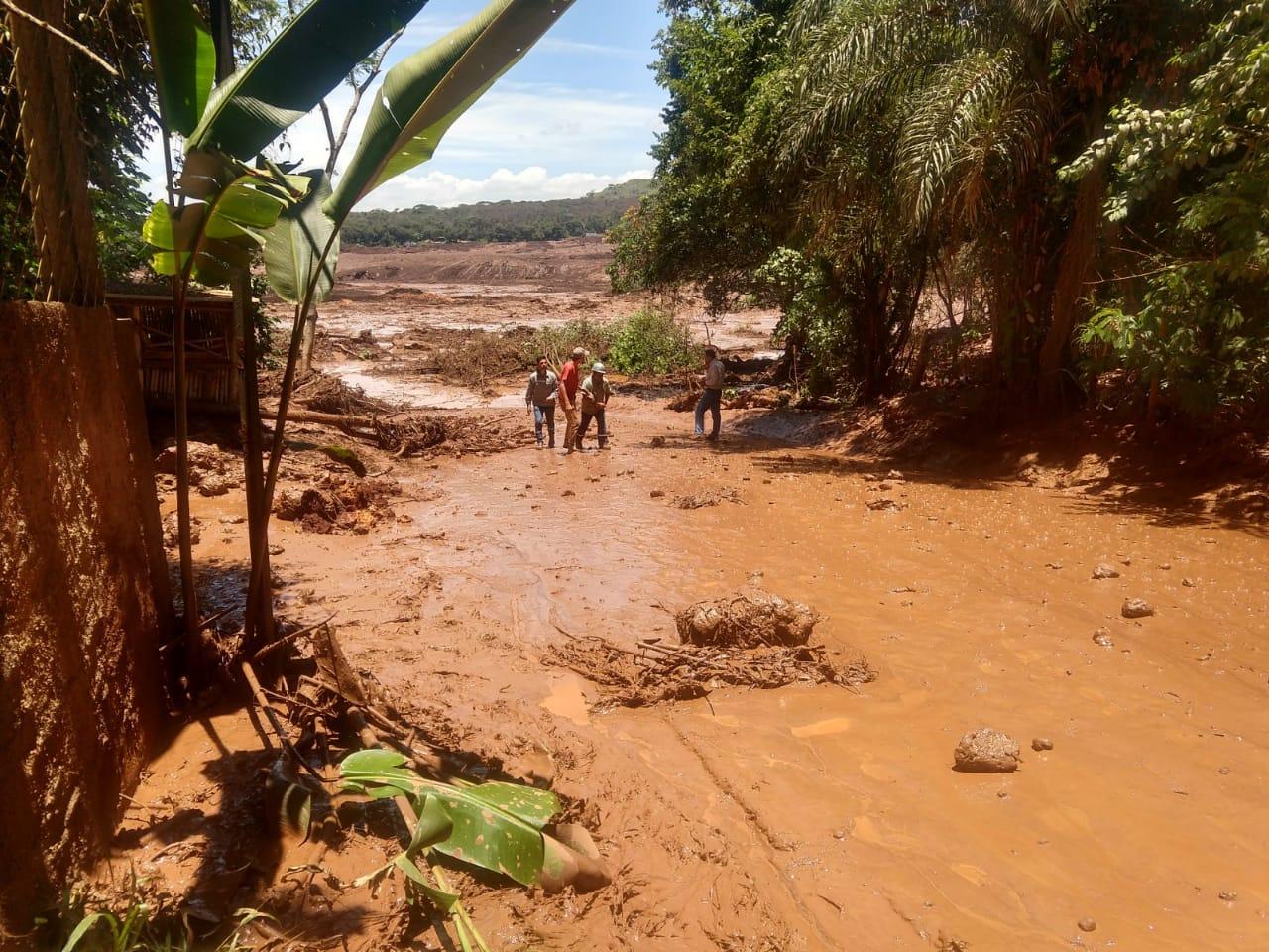 Barragem se rompe em Brumadinho, na grande Belo Horizonte (Foto: Reprodução)