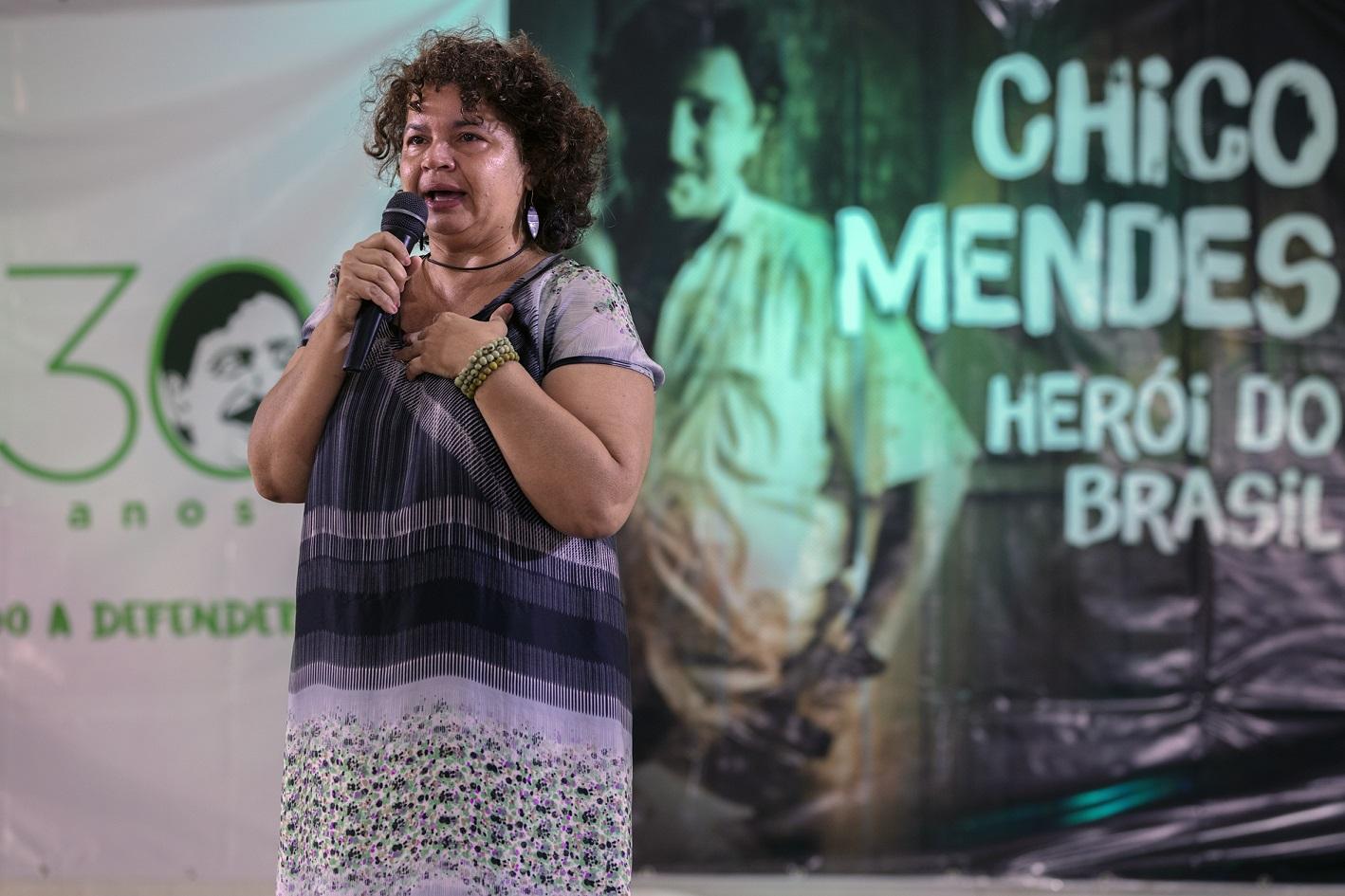 Ângela Mendes, filha mais velha do seringueiro e sindicalista Chico Mendes. Foto Marizilda Cruppe/Greenpeace