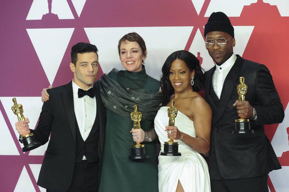 Rami Malek, Olivia Colman, Regina King e Mahershala Ali, vencedores nas categorias de atuação: diversidade (Foto Hubert Boesl/DPA)