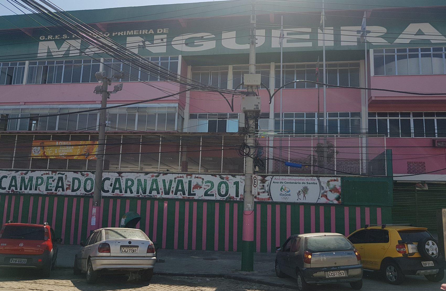 Palácio do Samba, quadra da Mangueira: escola é a referência do morro (Foto: Oscar Valporto)