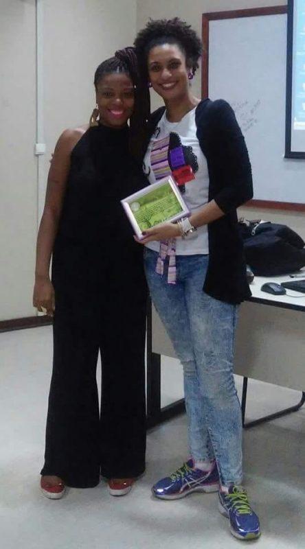 Priscila com Marielle no primeiro encontro entre elas em 2016: ' Marielle sempre lutou por coisas que nós, mulheres pretas, lutamos também' (Foto: Arquivo Pessoal)