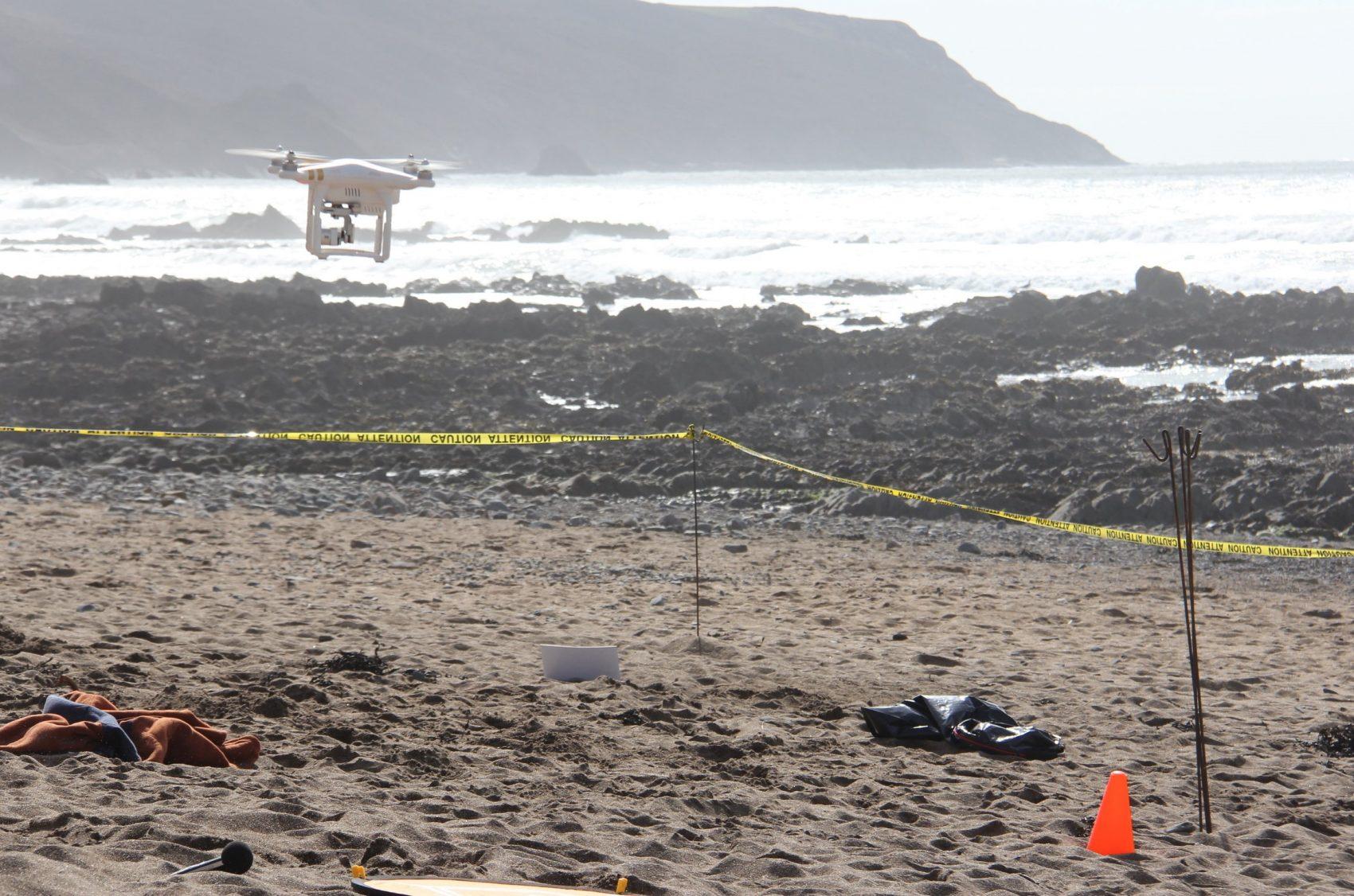 Drone usado em pesquisa para localização e retirada de lixo que envolve cientistas de 14 países: tecnologia até para identificar resíduos no fundo do mar (Foto: Divulgação)