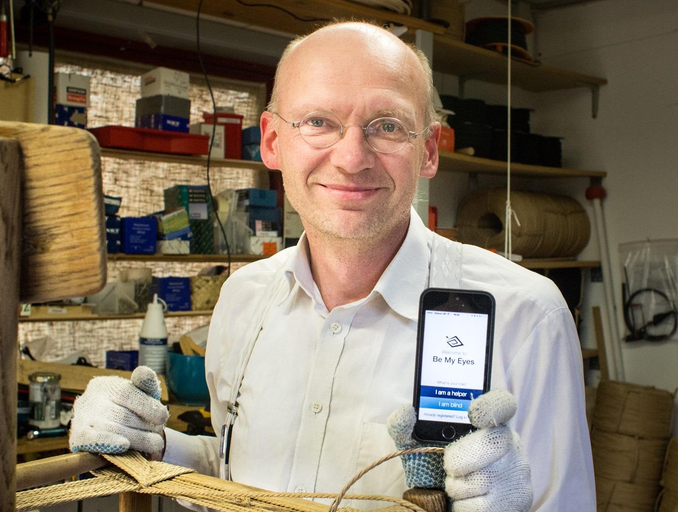 Hans Wiberg, inventor do aplicativo 'Be my eyes', que permite 'emprestar' nossos olhos para pessoas cegas ou com baixa visão. Foto Divulgação