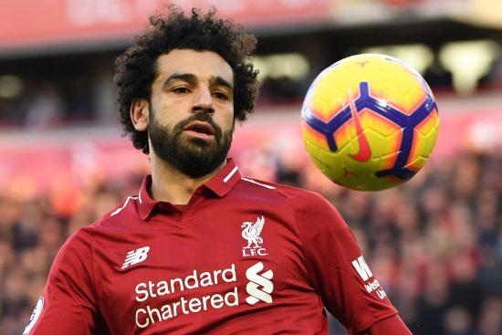 O atacante egípcio do Liverpool Mohamed Salah em ação na Liga Inglesa: projetos sociais (Foto: Paul ELLIS/AFP)