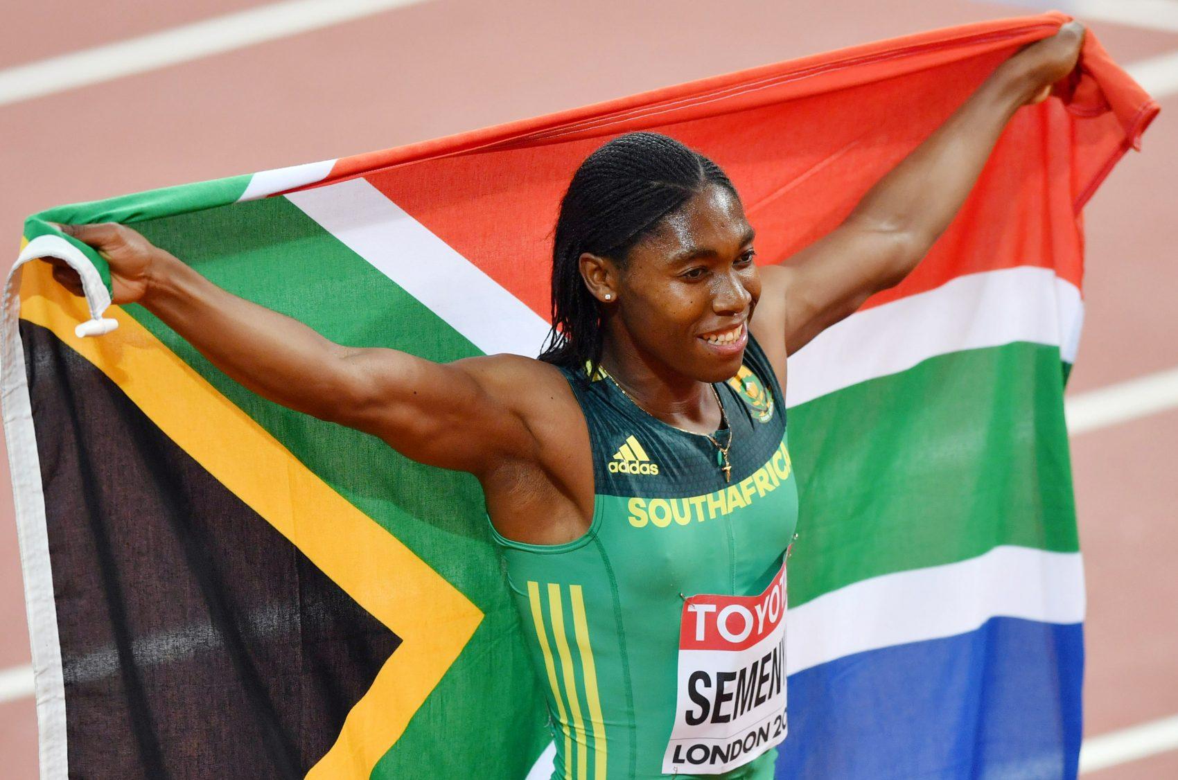 A corredora sul-africana Caster Semenya após sua vitória no Campeonato Mundial de Atletismo em 2017: entre os 100 mais influentes do mundo por sua luta contra a federação internacional para competir em provas femininas apesar dos níveis altos de testosterona (Foto: The Yomiuri Shimbun )