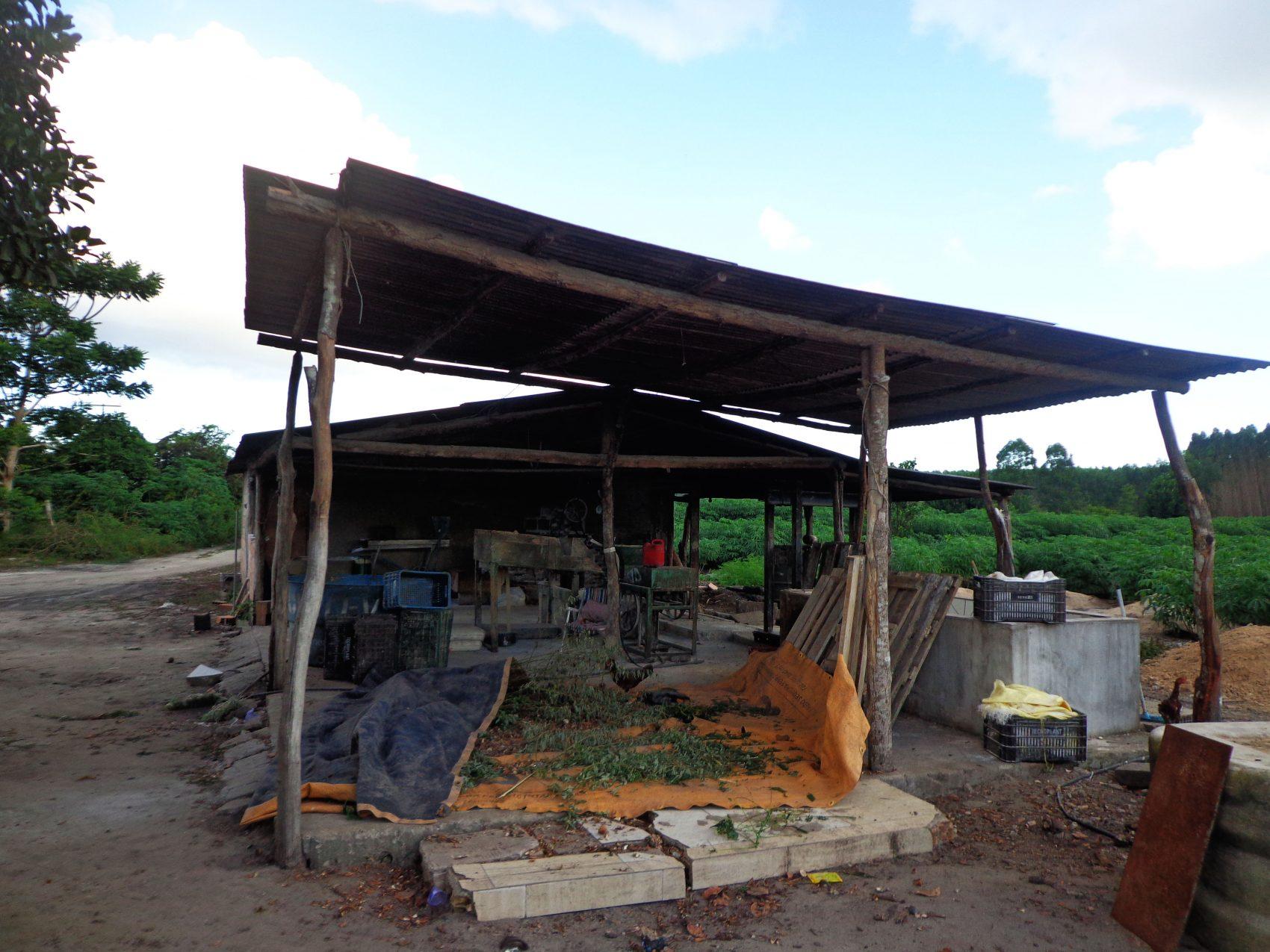 Antiga farinheira em Alcobaça: contaminação de rios, córregos e lagos por resíduo da mandioca (Foto: Divulgação)