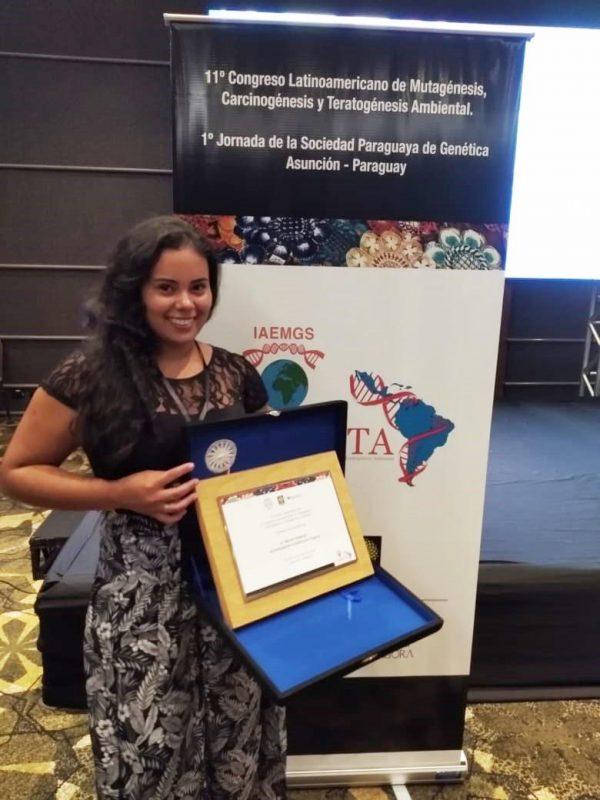 Hélina Nascimento, doutoranda da UFGD: prêmio internacional (Foto: UFGD)