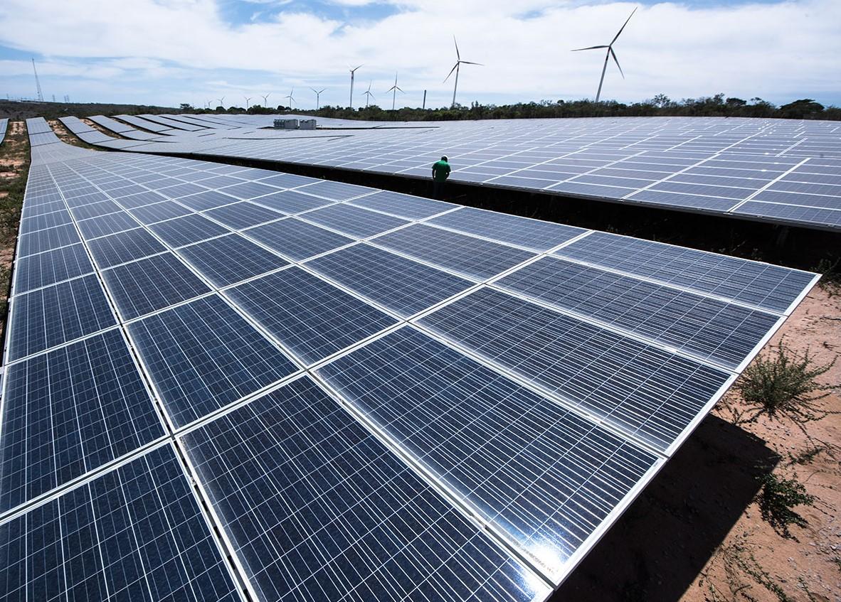 Painel fotovoltaico para produção de energia solar (Foto Divulgação)