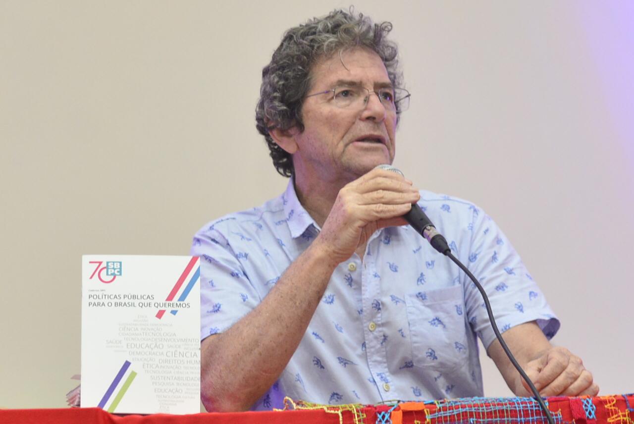 Ildeu de Castro Moreira, recém reeleito presidente da SBPC: 'Essa é uma campanha nossa: recompor o orçamento do ano que vem. Este ano está perdido.' (Foto: SBPC: Divulgação)