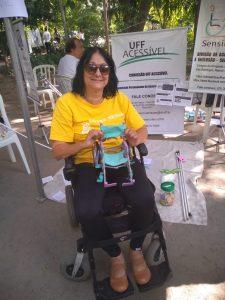 Lucília Machado, tcoordenadora adjunta do Sensibiliza UFF e tetraplégica: 'Na UFF, fomos mordidos pelo bichinho da inclusão' (Foto: Arquivo Pessoal)