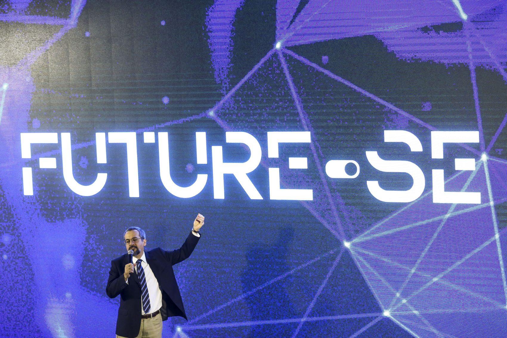 O ministro da Educação, Abraham Weintraub, durante apresentação do programa Future-se: críticas de reitores, professores e estudantes (Foto: Marcelo Camargo/Agência Brasil)