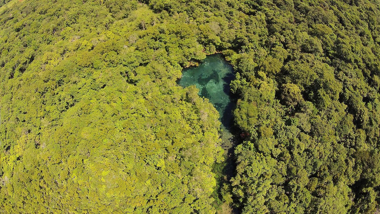 Nascente do Rio Olho D`Água, no Mato Grosso do Sul. O Cerrado brasileiro é uma das áreas mais ameaçadas pela escassez. Foto José Sabino/BPBES