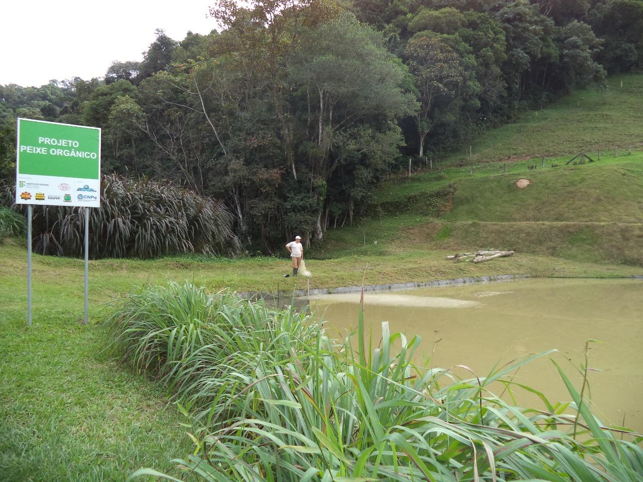 Tanque dos peixes orgânicos com 1700 metros quadrados: pesquisadores temem corte de verbas (Foto: Divulgação/IFSC