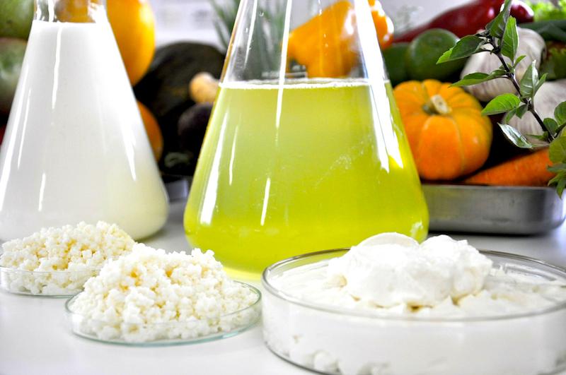 Produtos a base de kefir são misturados com água e leite: pesquisadores da URFB já patentearam 13 produtos (Foto: Divulgação/UFRB)