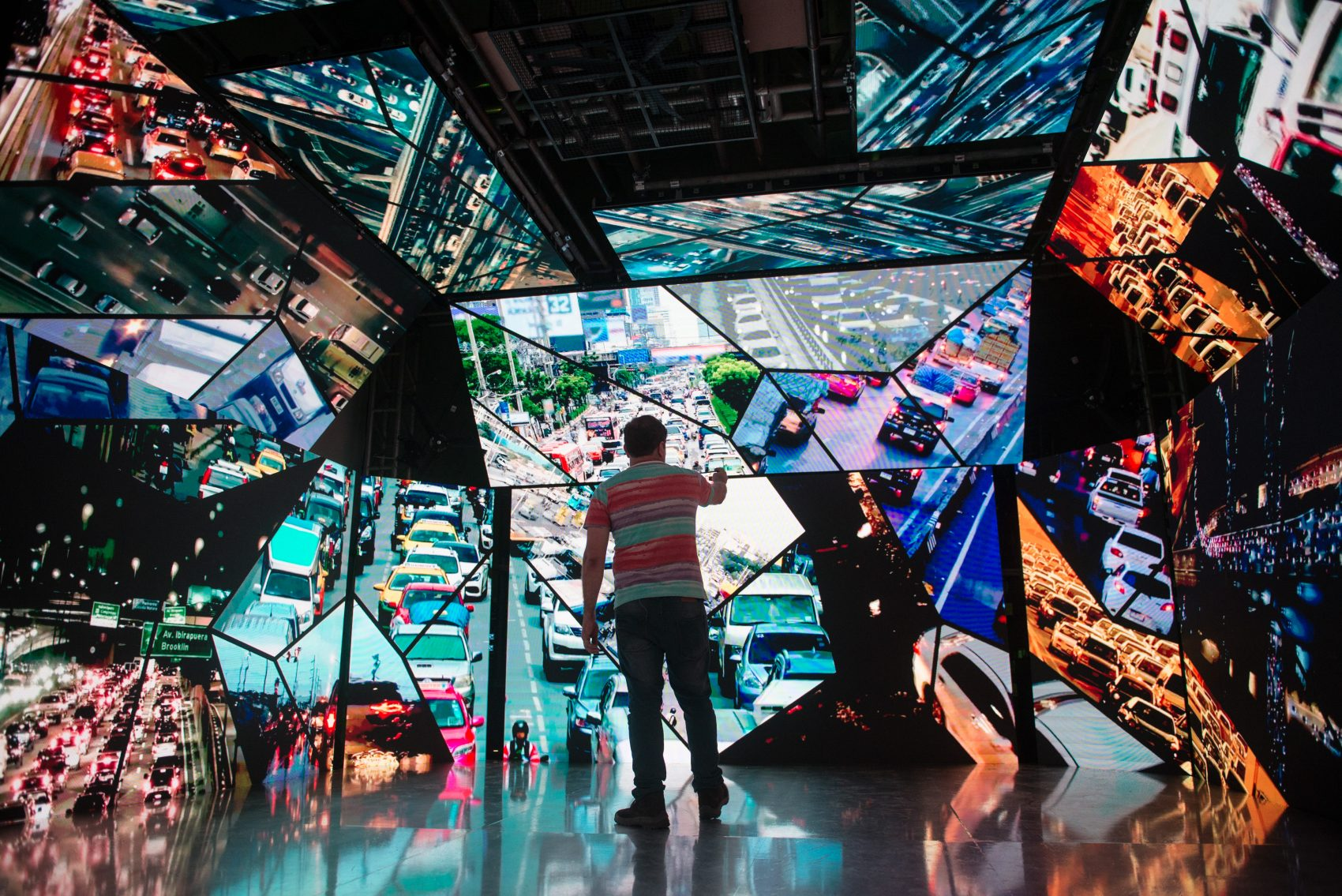 Módulo {Trans}Formação da Exposição O Dia Seguinte: experiência sensorial e visual para mostrar impactos da crise climática (Foto: Anette Alencar)
