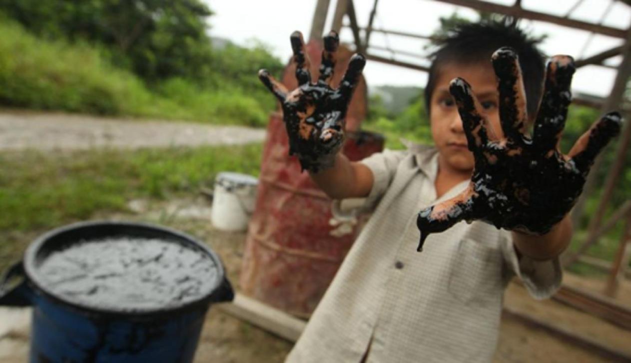 Os efeitos do oleoduto no meio da Amazônia peruana. Foto Reprodução