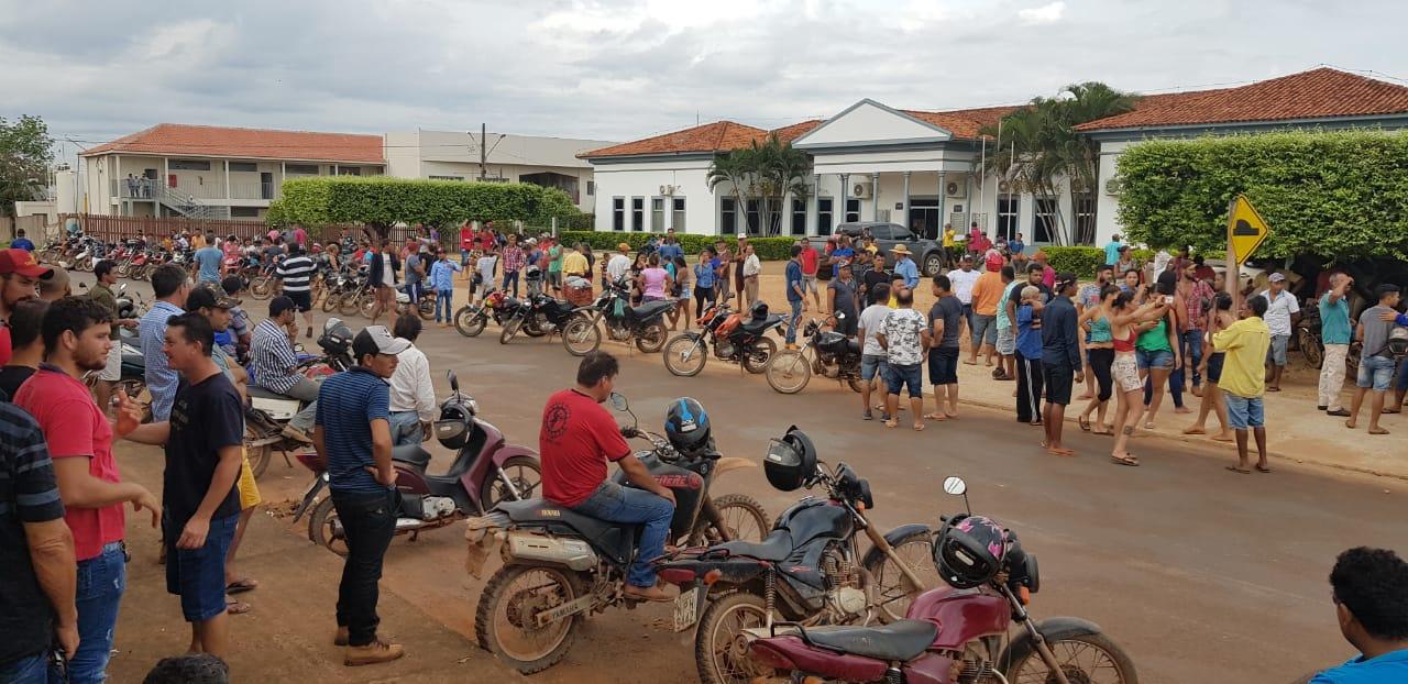 Na terça-feira houve passeata de garimpeiros na cidade e um protesto em frente ao Fórum de Aripuanã. Foto Polícia Federal