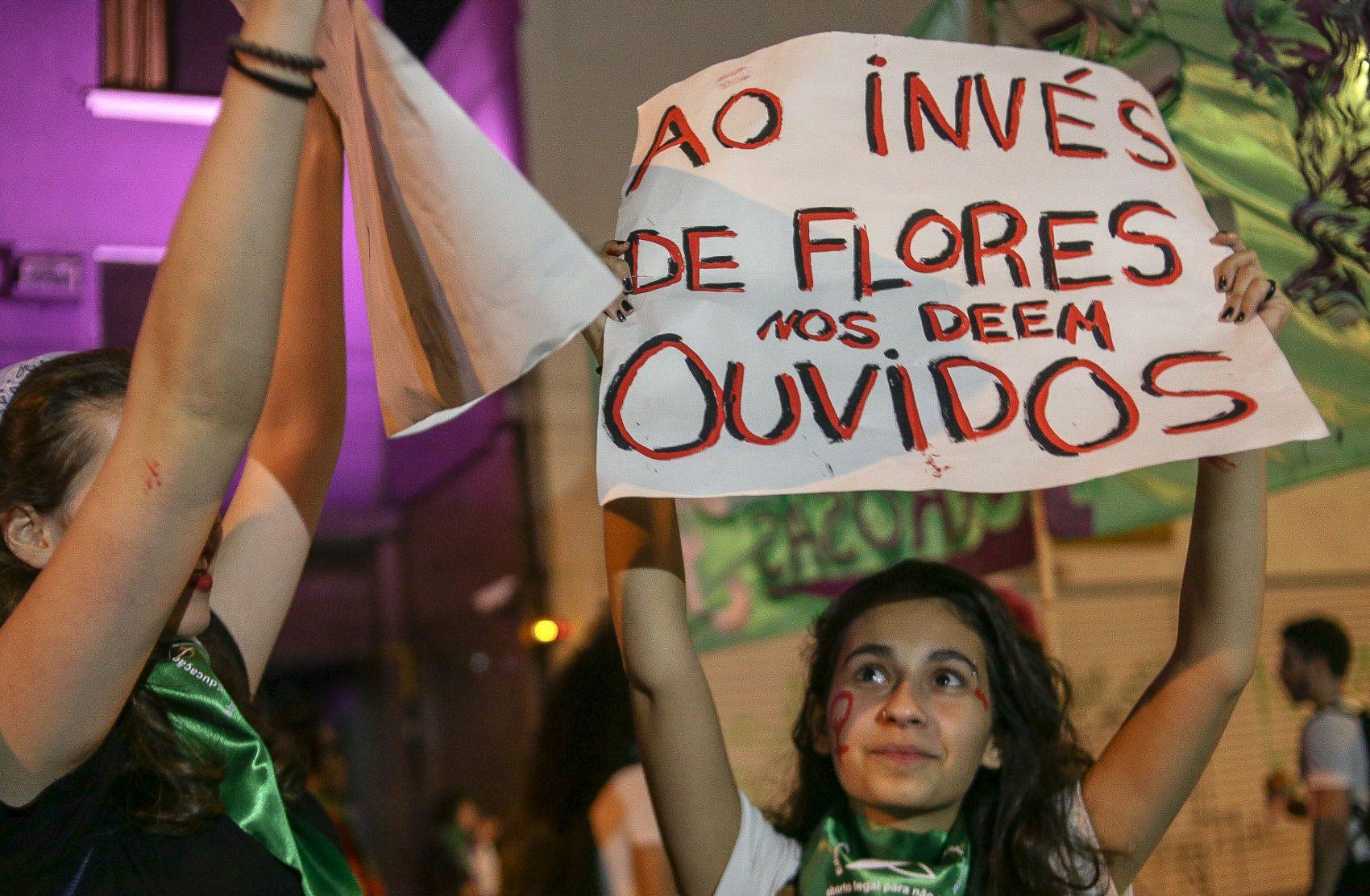 Protesto em São Paulo no ano passado (Foto: Dario Oliveira/NurPhoto / AFP)