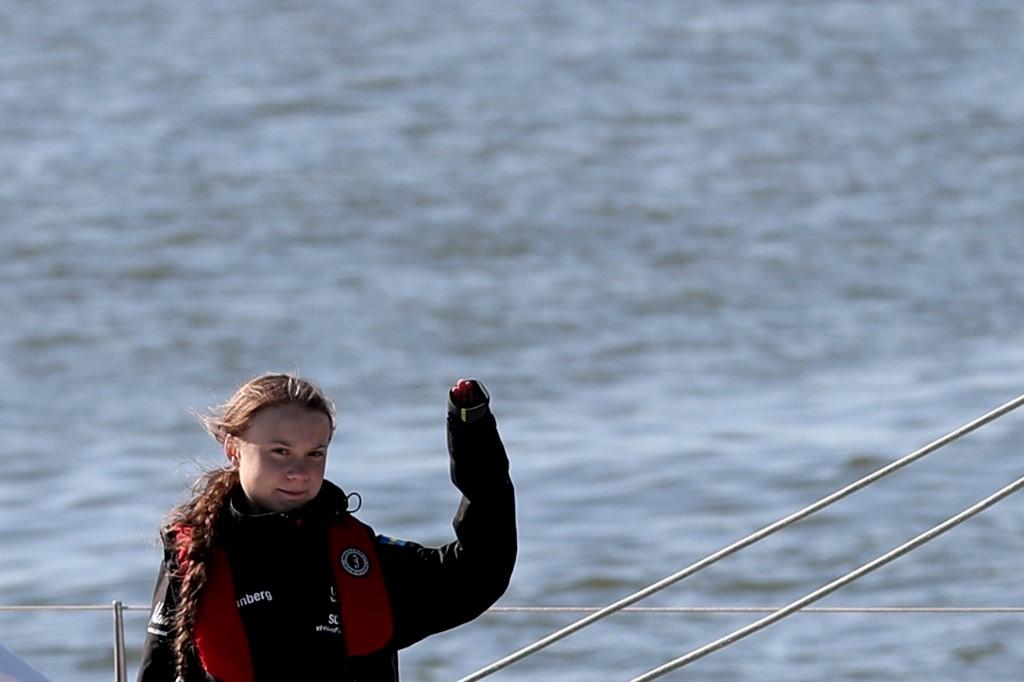 Ativista Greta Thunberg em Lisboa. Foto de Pedro Fiuza/NurPhoto/ AFP