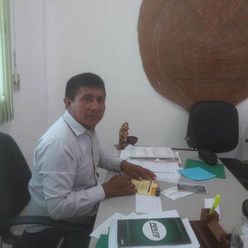 Basílio Rodrigues, vereador, é a favor da mineração, mas lembra histórico de destruição dos garimpos. Foto Luís Edmundo Araújo