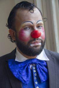 Pastor Henrique, caracterizado como palhaço: ator iniciante. Foto de Paulo Marcos de Mendonça Lima