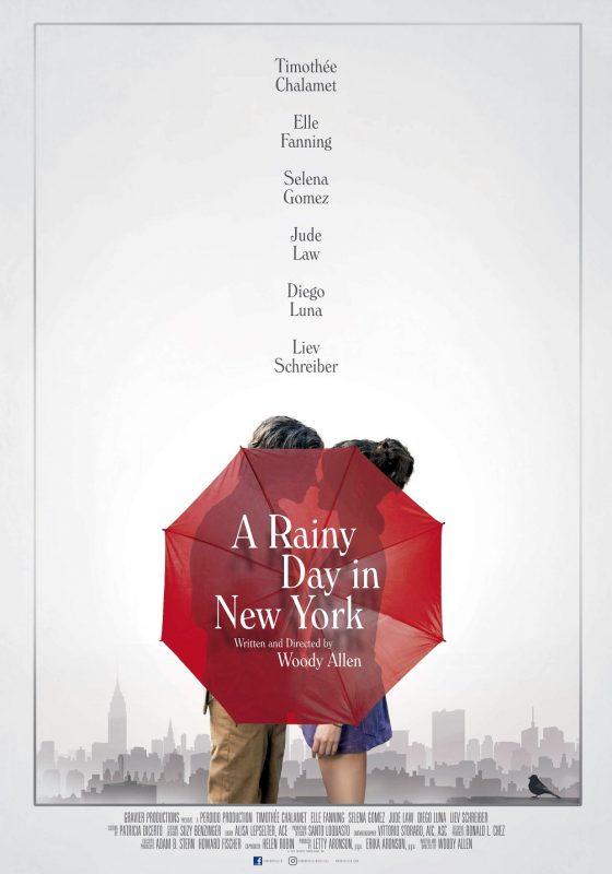 """Cartaz do filme """"Um dia de chuva em Nova York"""". Reprodução"""