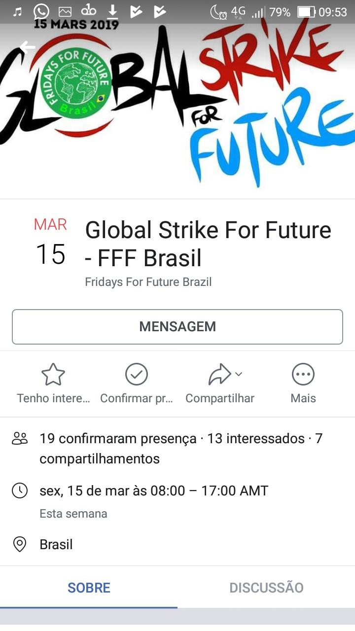Evento no Facebook: 19 confirmações (Reprodução)