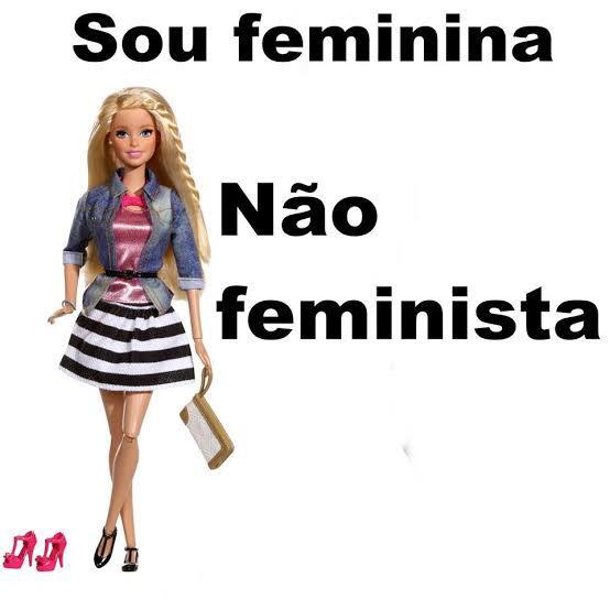 Meme da internet ironiza as mulheres que não são feministas (Foto: reprodução)
