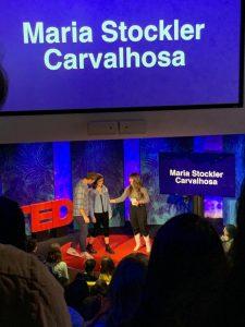 Maria no TED ED (Foto: Arquivo pessoal)