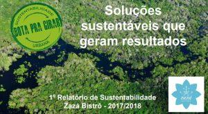 O relatório de sustentabilidade do Zazá Bistrô (Foto: Divulgação)