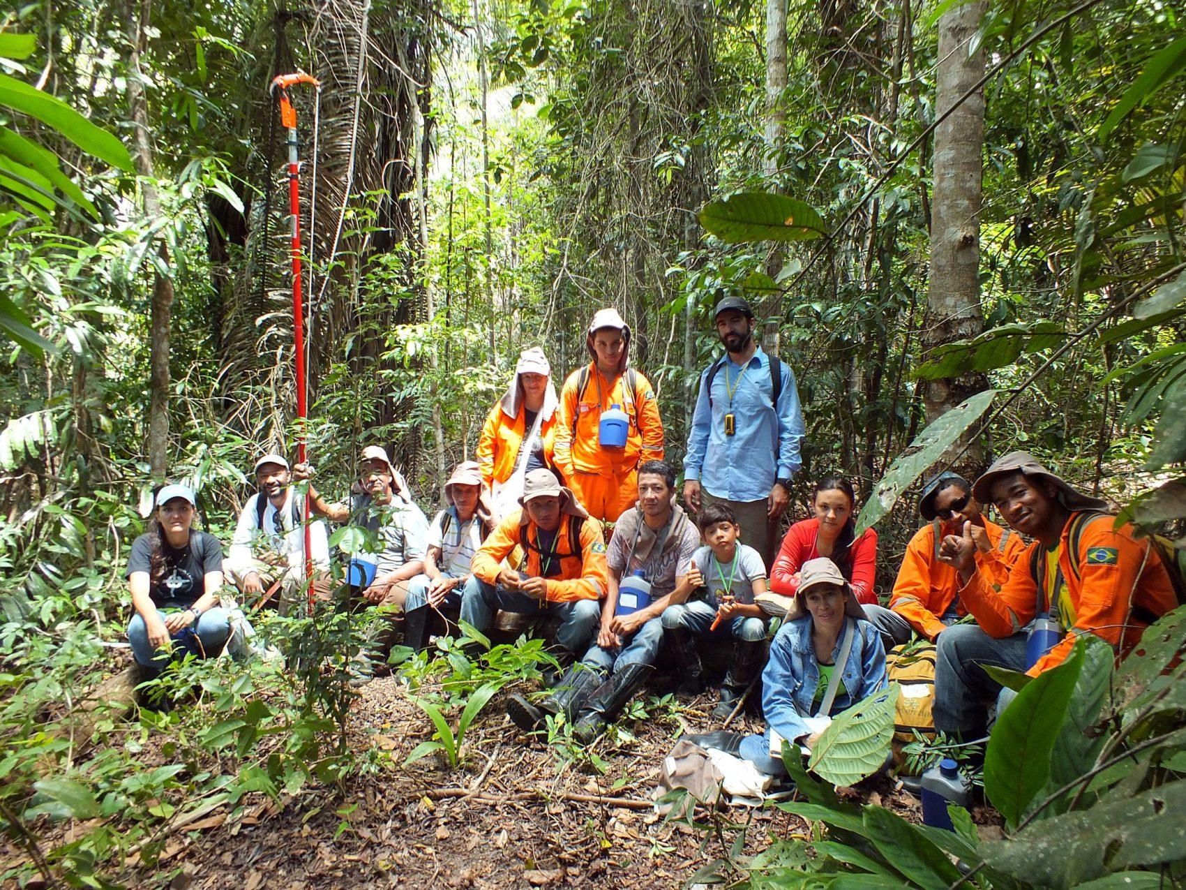 Coletores de sementes na Floresta Nacional do Rio Preto, núcleo do Programa Arboreto: 300 projetos formam Pacto pela Restauração da Mata Atlântica (Foto: Programa Arboretum/Divulgação)
