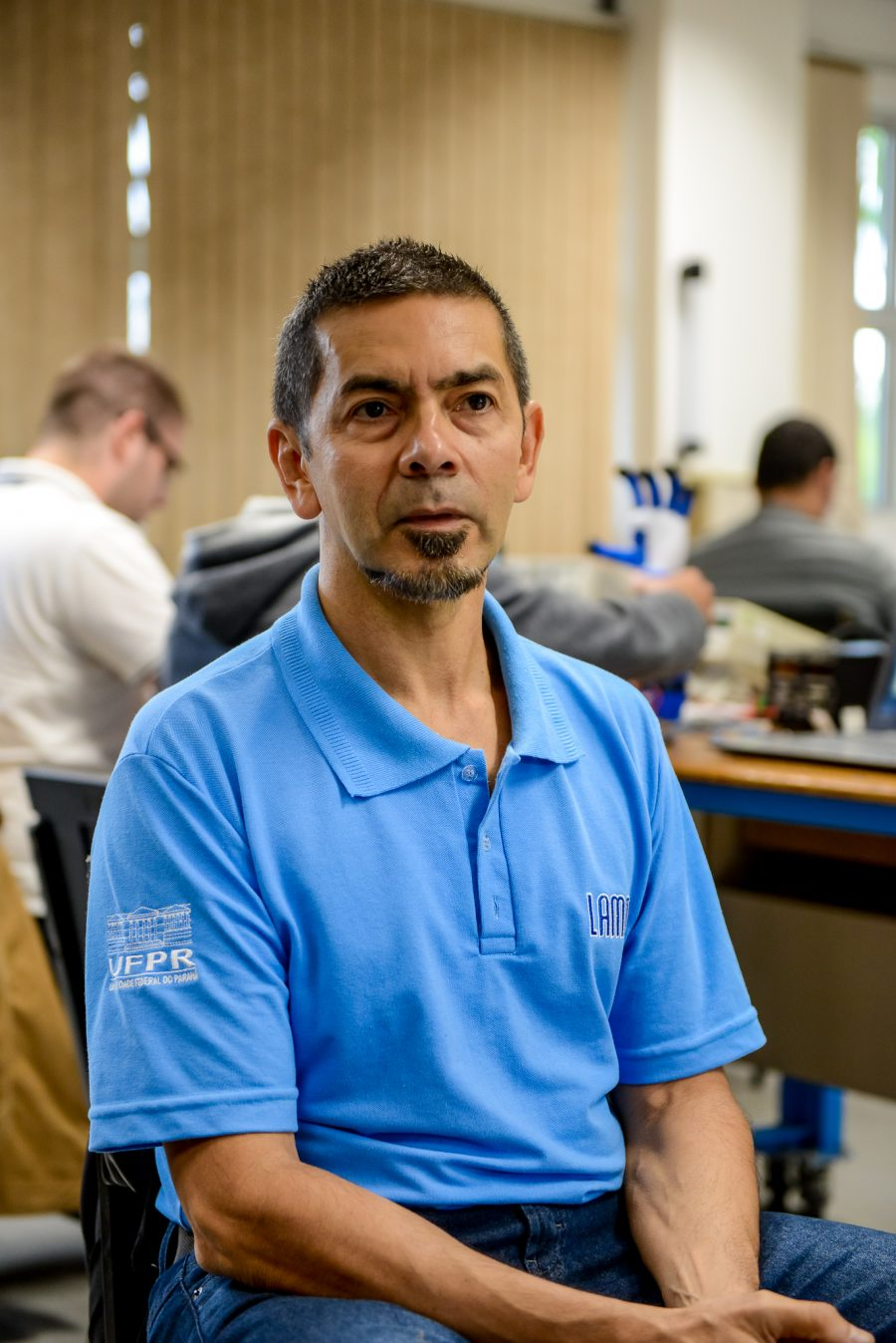 O professor Marlio Bonfim: busca de parcerias e financiamentos para projeto (Foto: Marcos Solevan/UFPR)