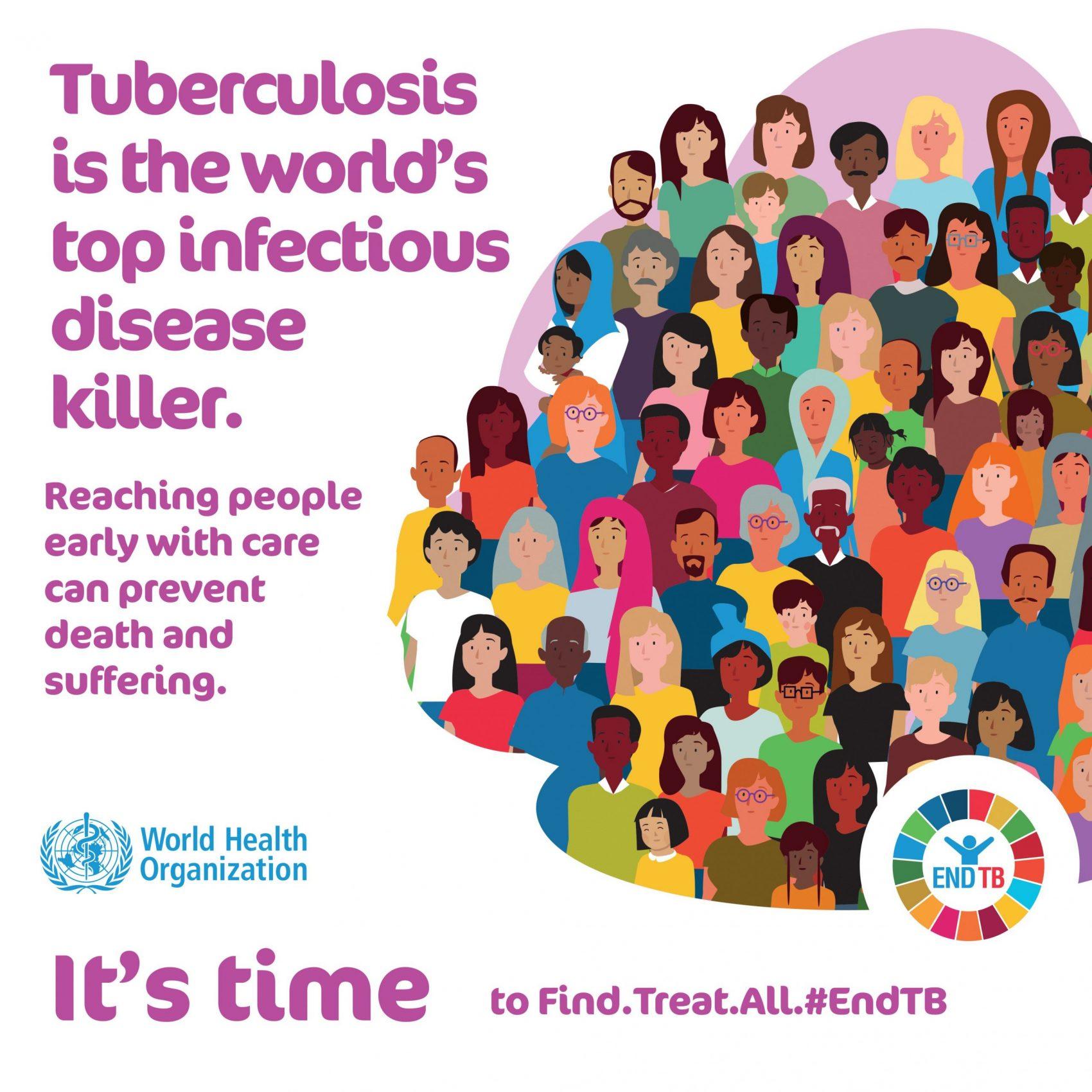 Campanha da OMS para o Dia Mundial da Tuberculose 2020: doença infeciosa mais letal do mundo (Foto: Reprodução)