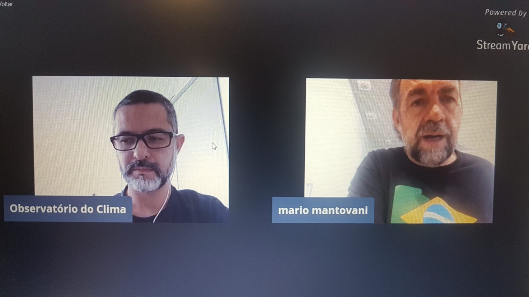 """Mário Mantovani, da SOS Mata Atlântica, na entrevista da série Tem Clima em Casa, conduzida pelo jornalista Claudio Angelo: """"Esse decreto seria a mãe de todos os males e poderia reduzir brutalmente a área do bioma"""" (Foto: Oscar Valporto)"""