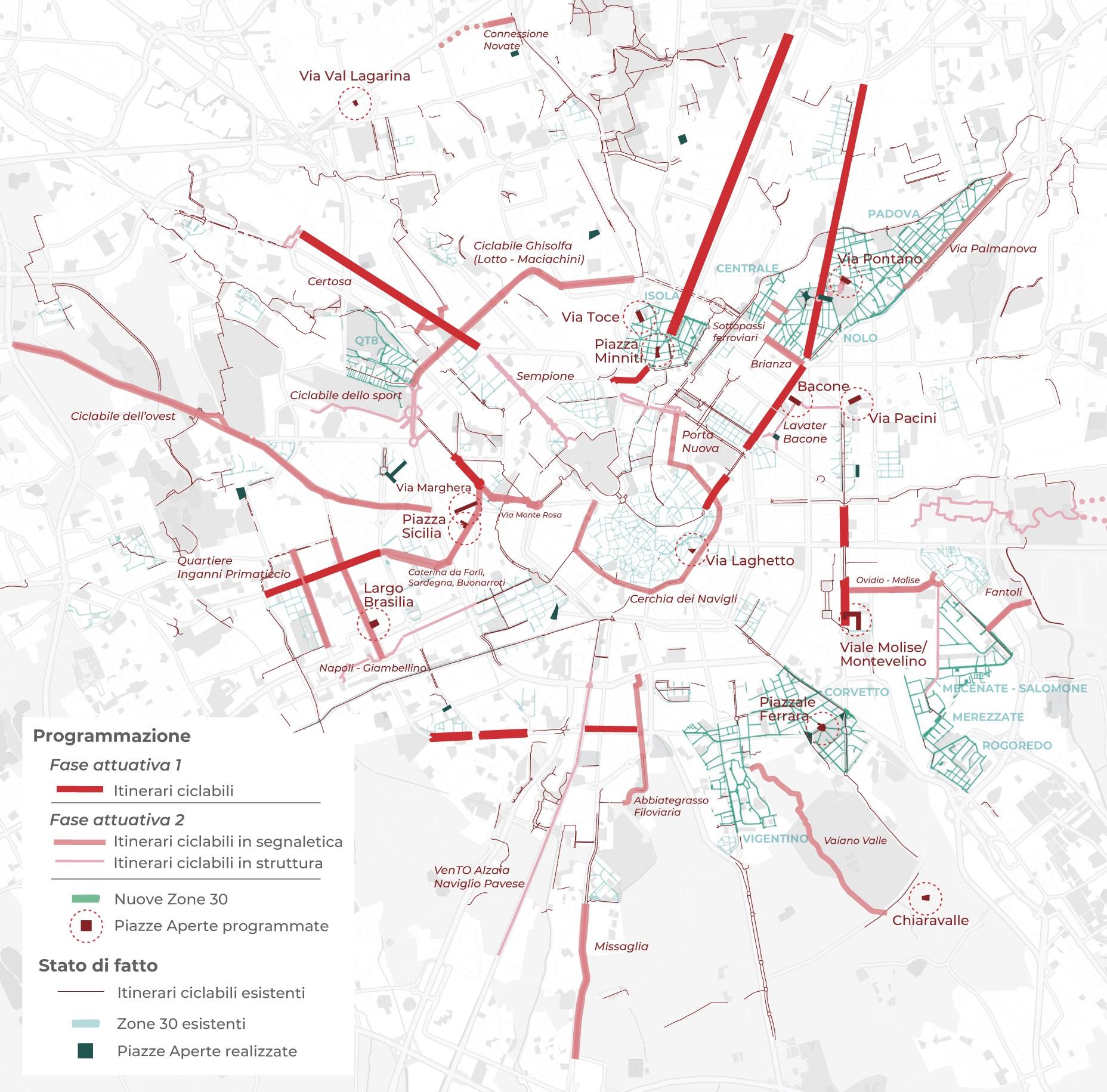Plano Strade Aperte da cidade de Milão, na Itália. Foto Comune de Milano/ Flickr