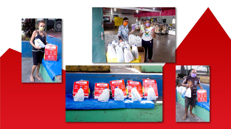 A Associação Cruz de Malta de Belo Horizonte entregou vales-gás, cestas básicas e kits de limpeza para moradores do Morro das Pedras