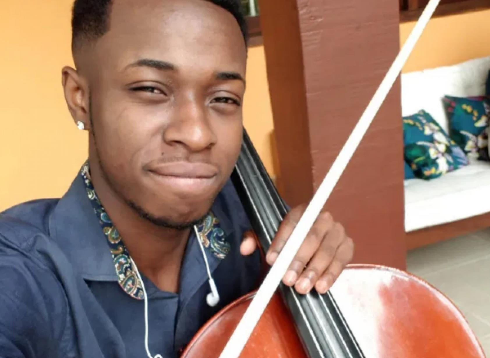 Luiz Carlos Justino: violonista preso por ter a foto num álbum de suspeitos. Foto do acervo pessoal