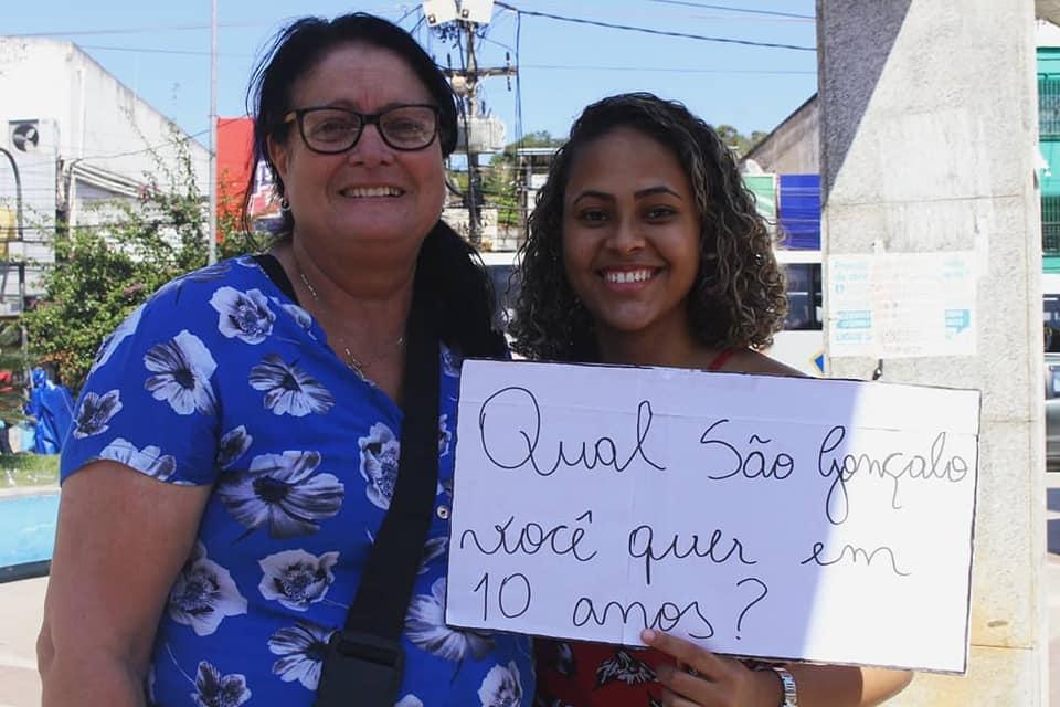 Organizadoras da Agenda São Gonçalo 2030: pesquisa com a população desde o ano passado (Foto: Casa Fluminense)