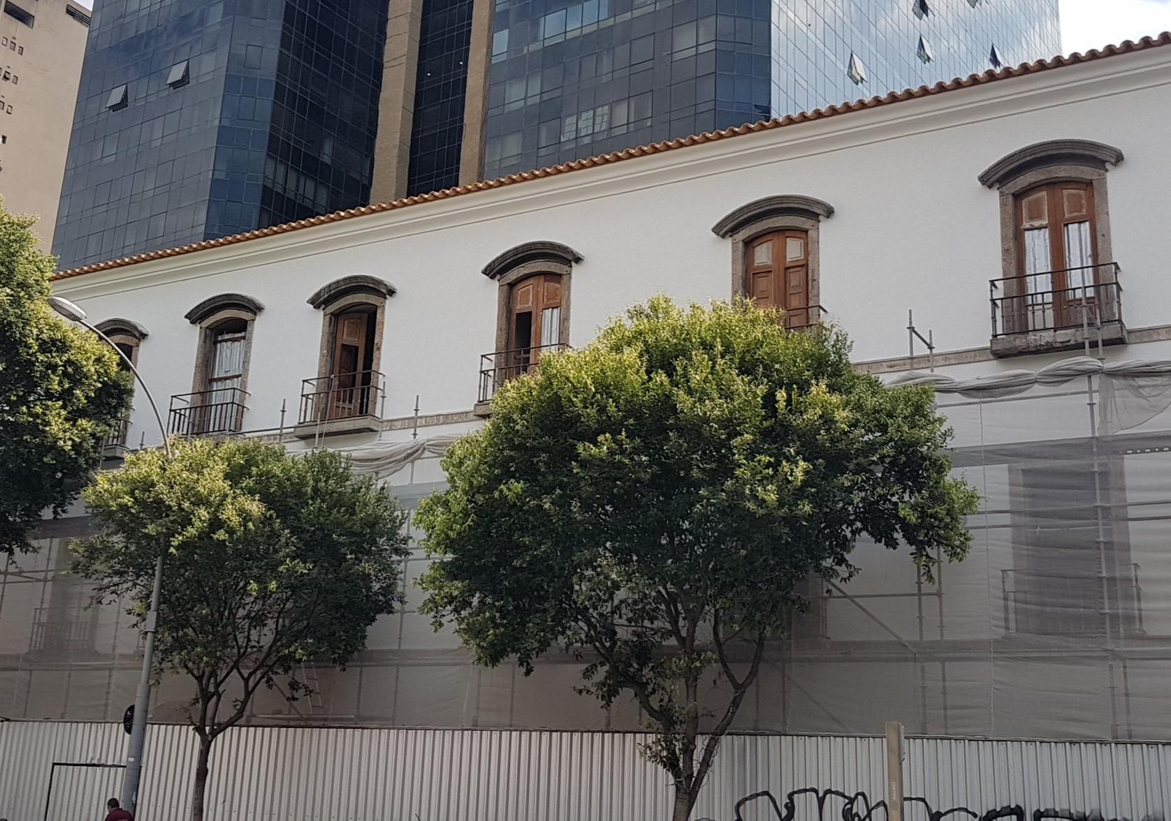 Lateral do Convento do Carmo na Sete de Setembro: reforma prevista para terminar no segundo semestre de 2021 (Foto: Oscar Valporto)