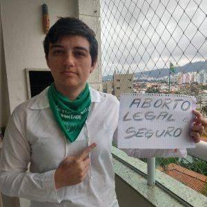 Carla Ayres: lésbica e feminista. Foto de divulgação