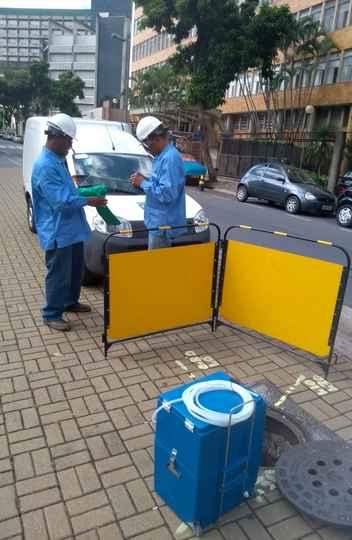 Pesquisa no esgoto em Belo Horizonte: projeto coordenado pela UFMG aponta alta no contágio (Divulgação/UFMG)