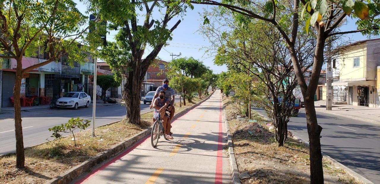 Em Fortaleza, quase metade da população mora a menos de 300 metros de uma ciclovia. Foto Prefeitura de Fortaleza
