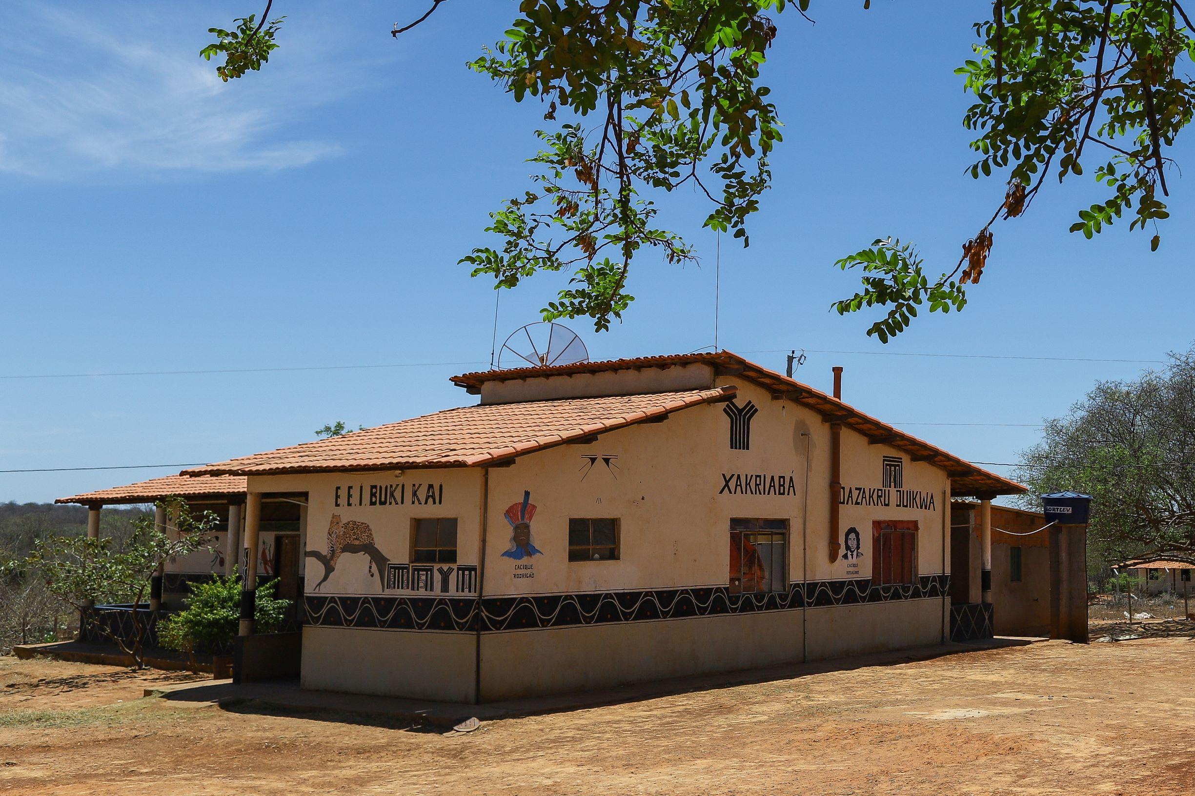 Escola Indígena na reserva Xakriabá: materiais didáticos e o currículo escolar diferenciados (Foto: Flávio Tavares)