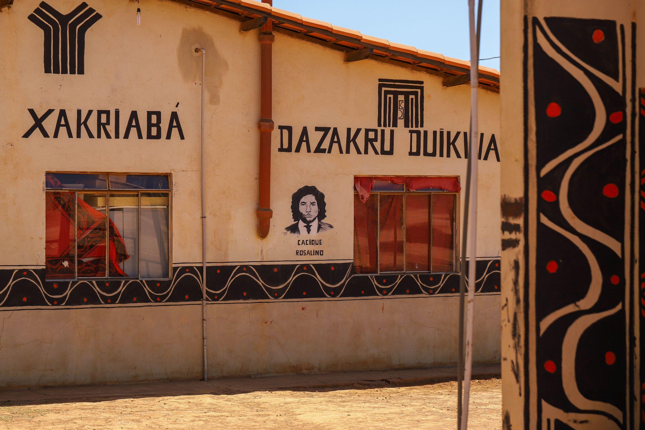 Mártir da luta pela demarcação do território Xakriabá, o cacique Rosalino é homenageado em escolas e entidades (Foto: Flávio Tavares)