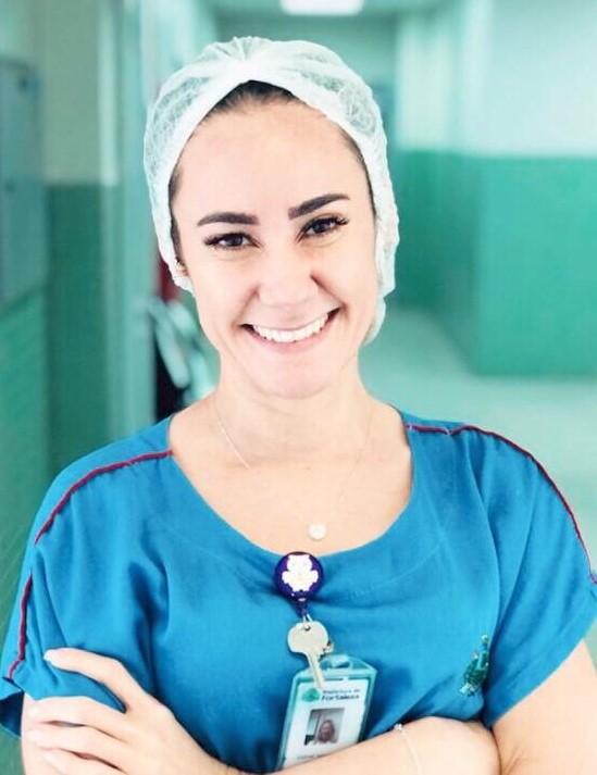 Karine: medo coletivo nos hospitais (Foto: Cofen)