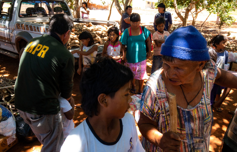 Em Mato Grosso, indígenas Xavante passam por dificuldades e recebem doações (Foto José Medeiros/Amazônia Real)
