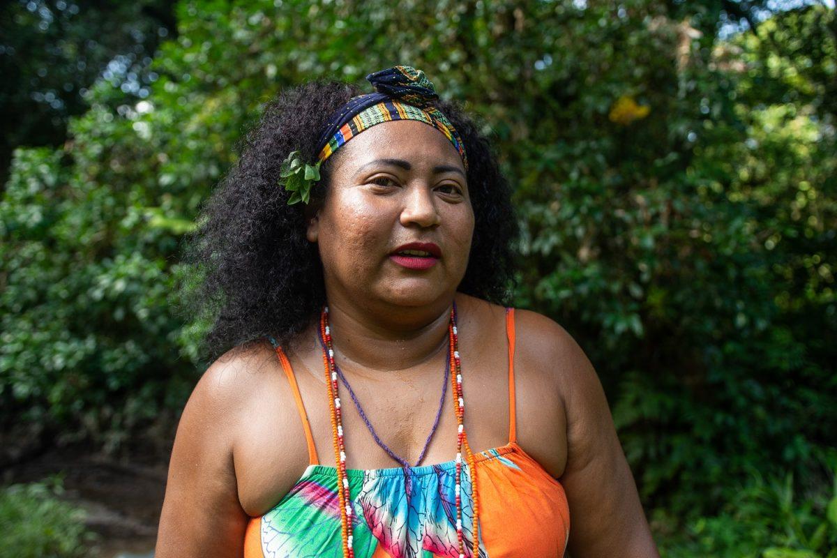 Vanuza Cardoso, liderança da Comunidade Quilombola Abacatal, em Ananindeua, no Pará. Foto Pedrosa Neto