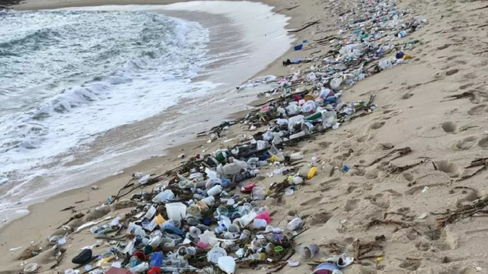 Lixo na praia de Tabatinga, no litoral sul do Rio Grande do Norte: pescadores ainda não recuperados do impacto do derramamento de óleo de 2019 (Foto: Idema/RN)